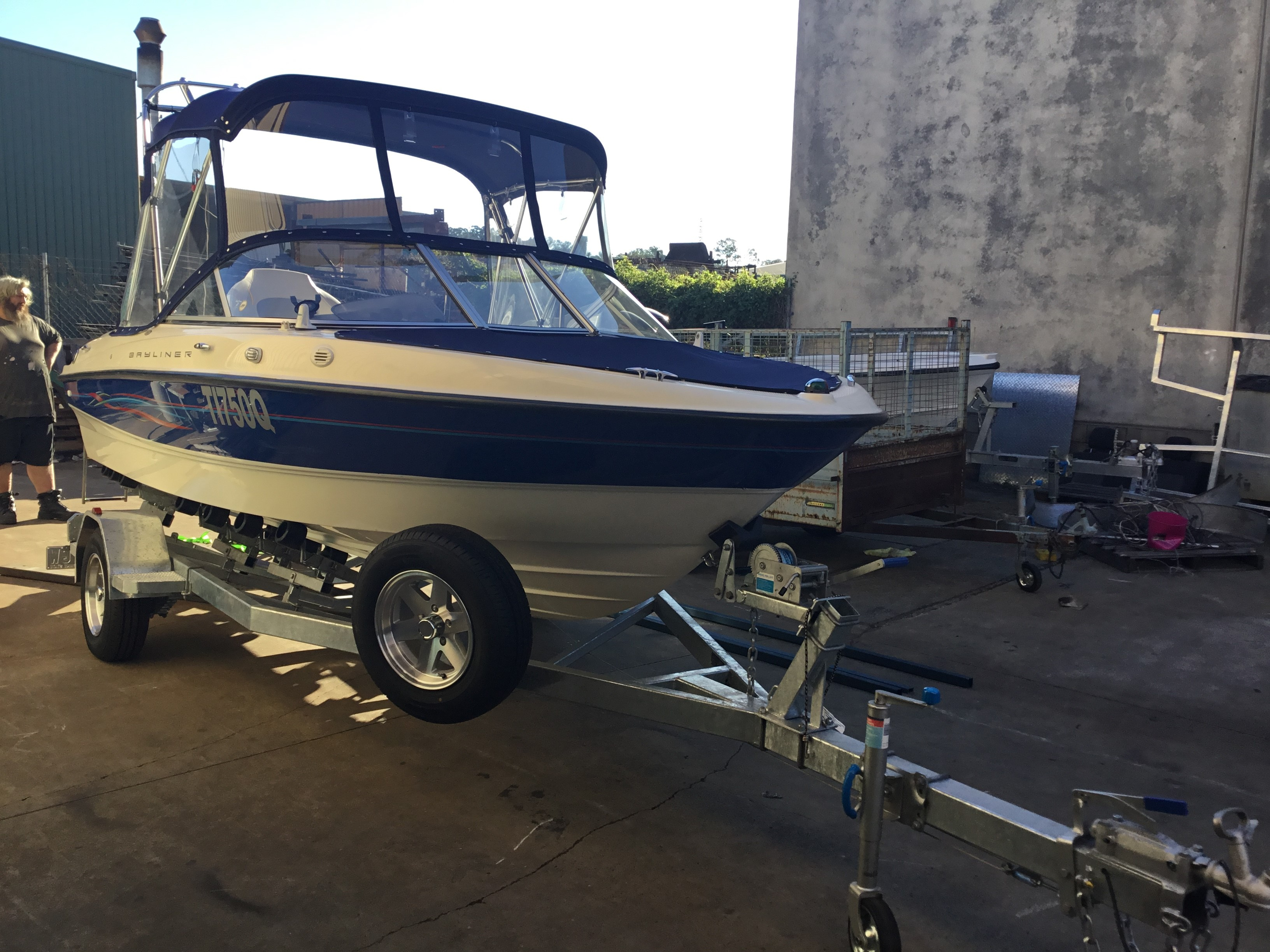 a beautiful new on-road build boat trailer rolling out
